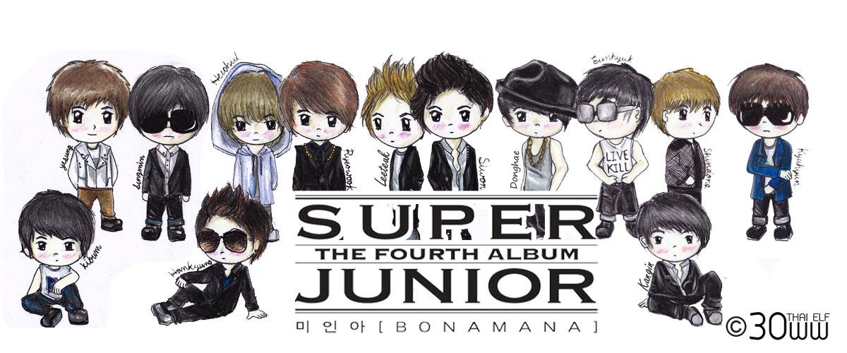 fanart super junior bonamana 13 members by thaielf keiiryeomin s blog